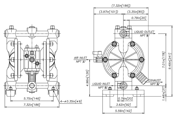 Dp 10dp 15g15 series yamada pump dp 10 aluminum npt ccuart Choice Image