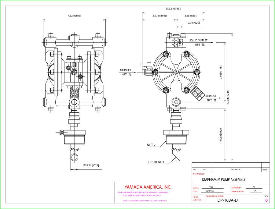Diaphragm drum pumps yamada pump dp 10ba d jpg ccuart Choice Image