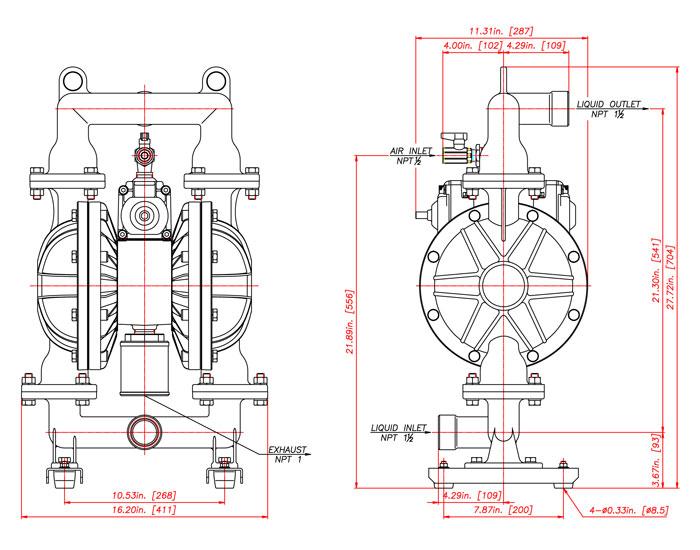 Ndp 40 series yamada pump ndp 40 cast iron npt jpg ccuart Images