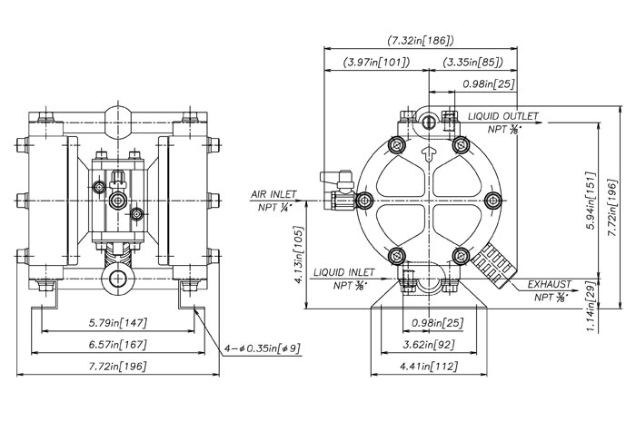 Yamada DP-10/DP-15 Series Pumps