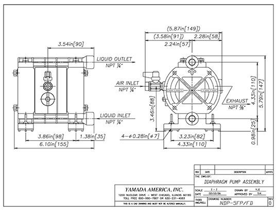 Yamada ndp 5 series pumps download cad drawing dwgdownload ccuart Images