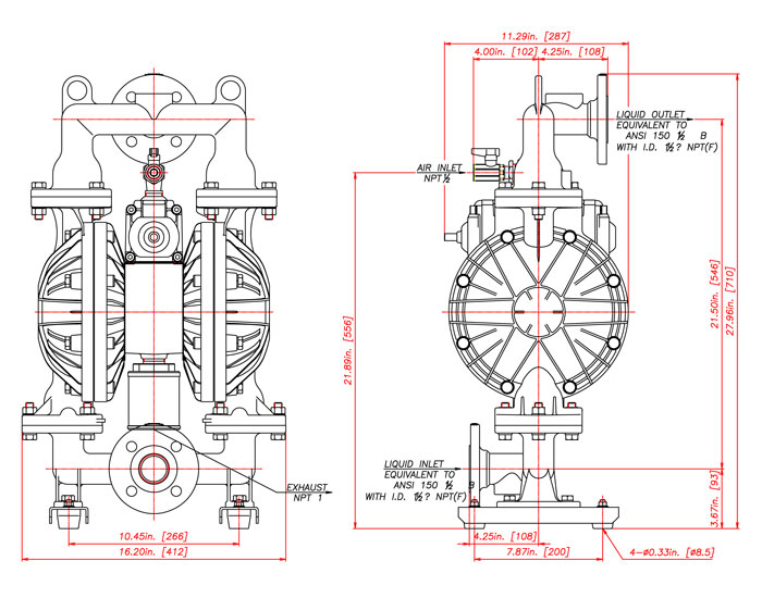 Yamada ndp 40 series pumps literature and drawings ccuart Images
